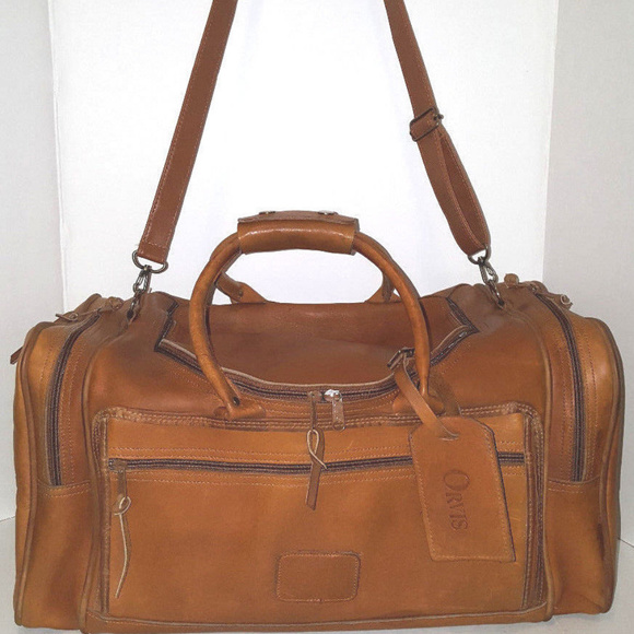 c4878029b Orvis Bags | Vintage 20 Brown Leather Duffle Preowned | Poshmark